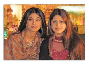 Shamita Shetty with her Sister Shilpa Shetty